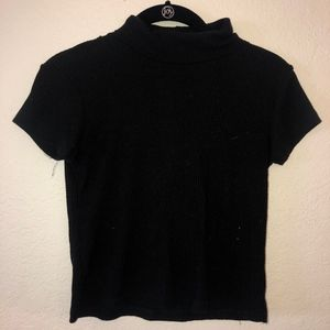 Brandy Melville Black ribbed Turtle neck shirt